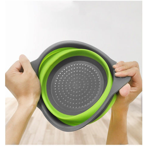Strainer Collapsible Drainer With Handle Kitchen Tools Foldable Silicon Colander Fruit Vegetable Washing Basket