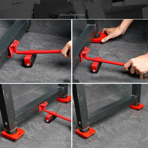 Heavy Furniture Moving System Lifting Kit With 4 Slider Glider Pad Sofa Easy Mover