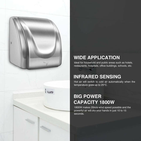 Premium Automatic Touchless Hand Dryer With High-Speed