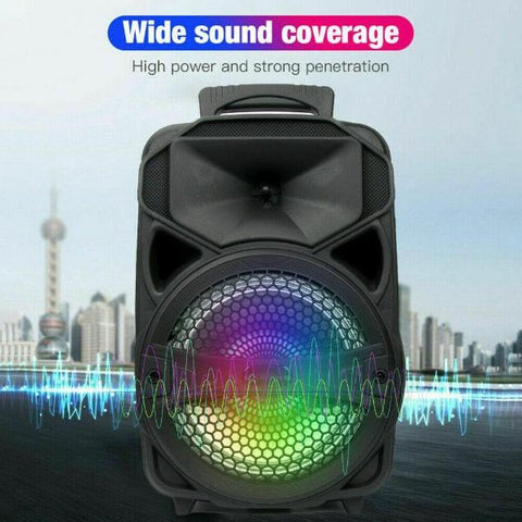 Outdoor Portable Bluetooth Speaker Stereo Subwoofer Supports USB TF AUX