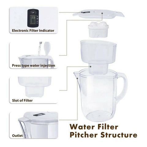 Water Pitcher Filter 3.8L Activated Carbon Water Filter