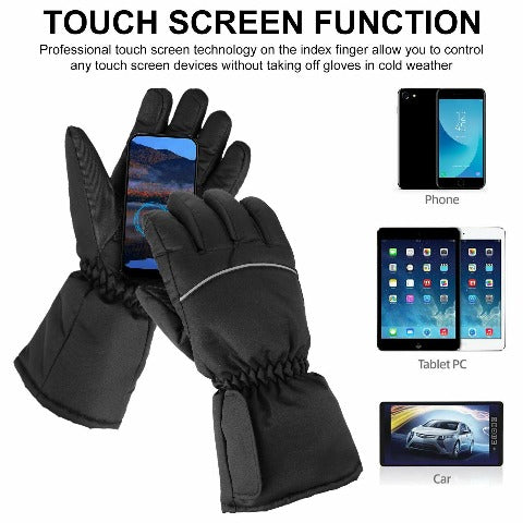 Electric Rechargeable Heated Gloves for Cycling, Motorcycle & Skiing