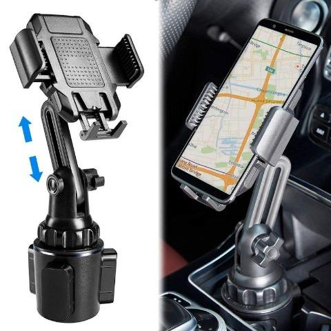 Cell Phone Holder - Universal Adjustable Portable Cup Holder Car Mount for Phones