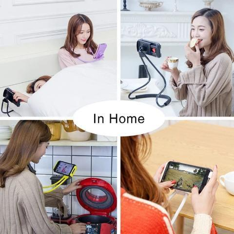 Hang Neck Phone Holder 360 Degree Rotation Mobile Stand Lazy Bendable Flexible