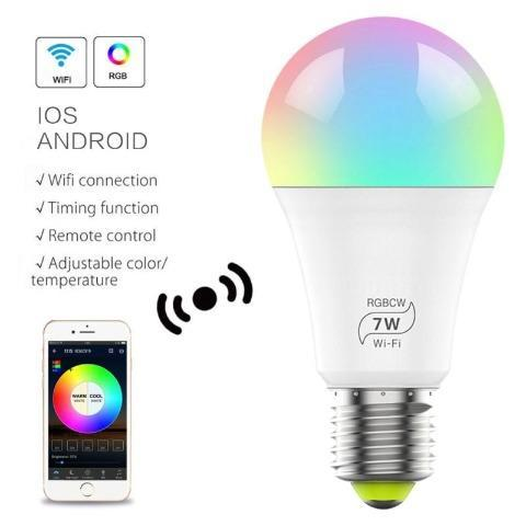 Smart Bulb No Hub Required, Dimmable Multicolor Wifi Light Bulb