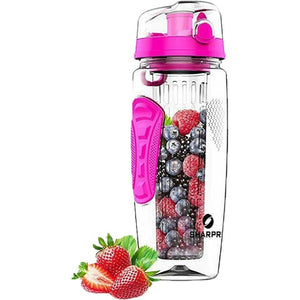 32oz Fruit Infuser Water Bottle BPA-Free Fruit Infusion Sports Bottle