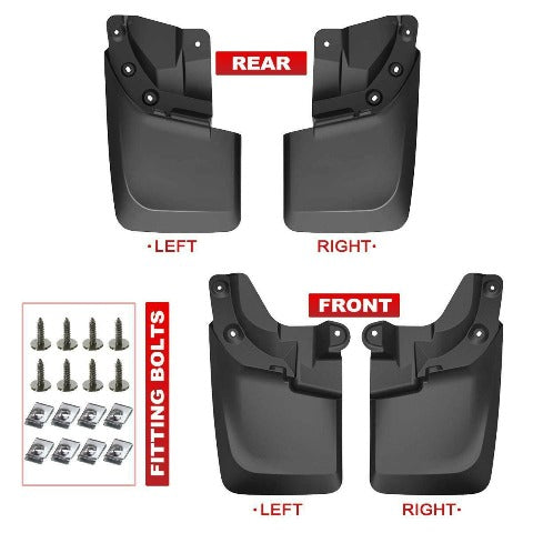 Heavy Duty Molded Mud Flaps 2016-2020 Compatible With Toyota Tacoma
