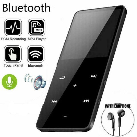 MP3 Player With Bluetooth Portable FM Radio 8GB In-Built Memory