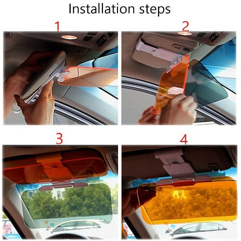 Car Visor Day And Night Anti-Glare Sun Visor