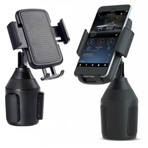 Car Phone Holder Cell Phone Mount - 2020 Upgrade Adjustable Height Cup Holder