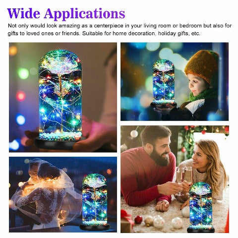 Exclusive LED Galaxy Rose Enchanted Rose In A Glass Dome