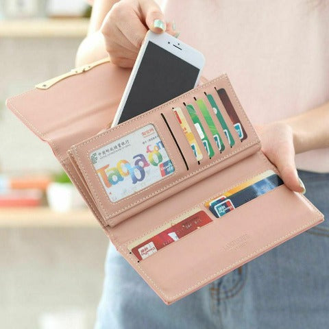 Women's Small Trifold Wallet In Colorblock