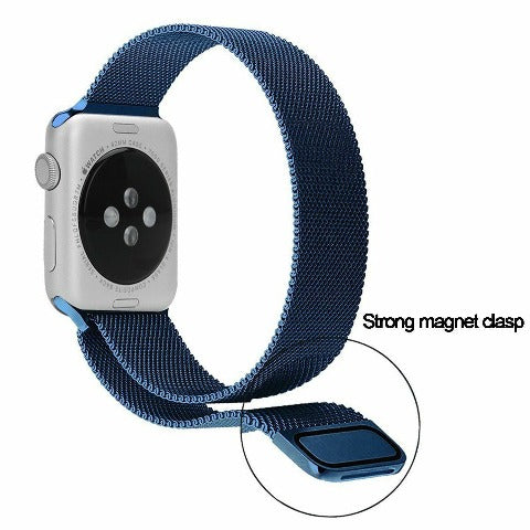 Stainless Steel Mesh Bands For Apple Watch - Silver