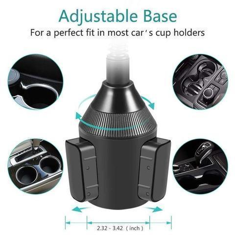 Car Adjustable Phone Holder Cup Mount Cradle Stand For iPhone XS Max XS XR X 11 Pro