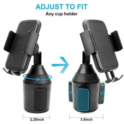 360 Degree Adjustable Car Cup Holder Stand Cradle Mount For Cell Phone