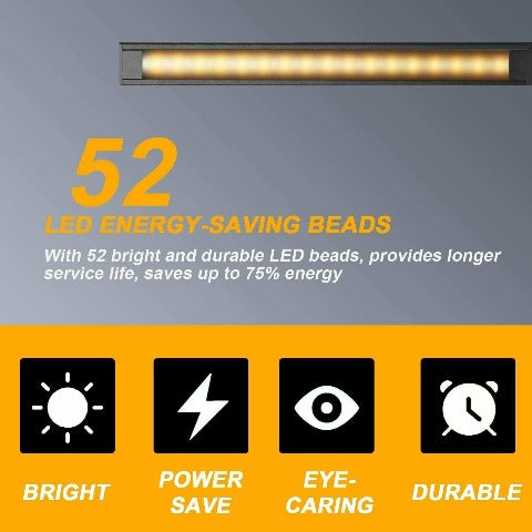 Dimmable LED Desk Lamp With USB Charging Port Eye-Caring Lamp