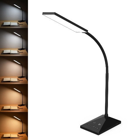 LED Desk Lamp With USB Port And Night Light