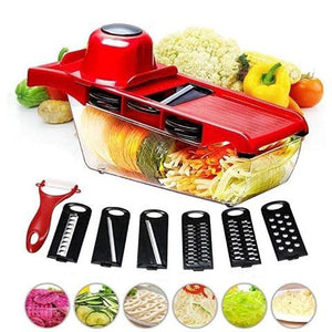 Adjustable Mandoline Slicer - Professional Handheld Kitchen Vegetable Fruit Cutter Blades