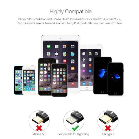 Apple Lightning To USB Cable For iPhone/iPad/iPod Touch