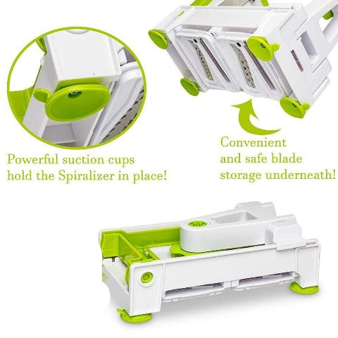 5 Blade Vegetable Spiralizer Spaghetti Maker, Zoodle Maker