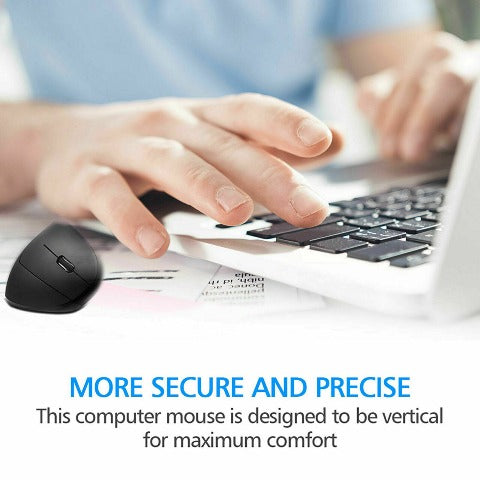 2.4g Wireless Vertical Mouse USB Ergonomic Optical Mouse