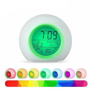 Kids Alarm Clock Colors Changing Kids Wake Up Light