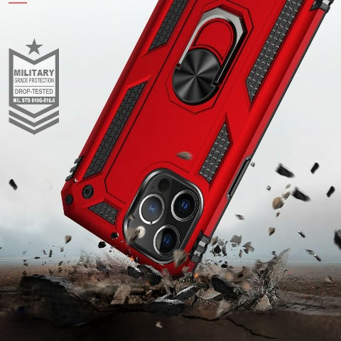 Rubberized Hybrid Shock Absorption Protective iPhone 12 Case