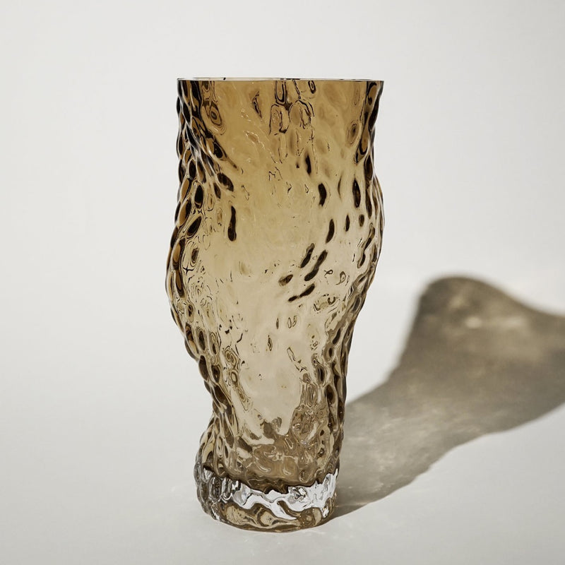 Ostrea ROCK Glass Vase / Smoke