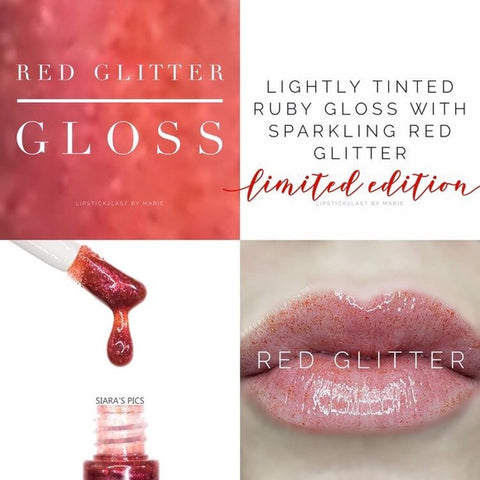 Lip Gloss Red Glitter