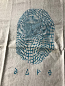 Bape Light Blue Maze Face Tee (Medium)