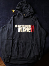 Load image into Gallery viewer, Bape Navy Blue Spellout Logo Hoodie