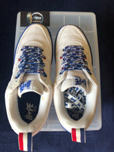 Load image into Gallery viewer, Bape White/Blue Canvas Bapestas 9