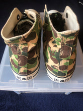 Load image into Gallery viewer, Bape x Stussy Green Camo Hi Top Apestas 9.5
