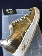 Load image into Gallery viewer, Bape Silver/Gold Bapestas 9.5
