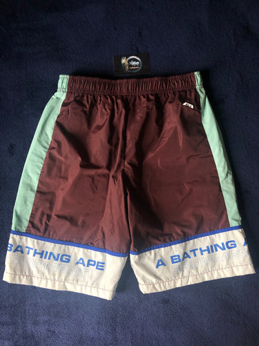 Bape Brown/Mint Green Swim Shorts