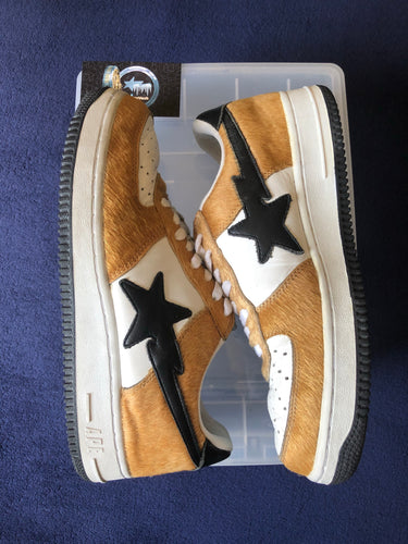 Bape Pony Hair Bapestas 9.5