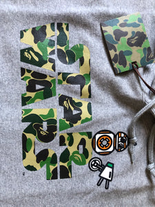 NEW Bape x Star Wars Green Camo Pullover Hoodie