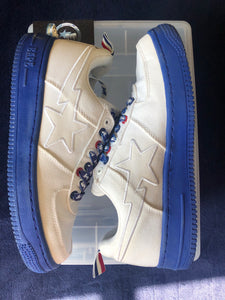 Bape White/Blue Canvas Bapestas 9