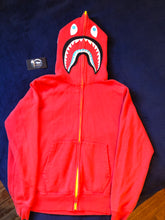 Load image into Gallery viewer, Bape Red Neon WGM Shark Full ZIP Hoodie
