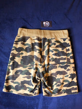 Load image into Gallery viewer, Bape Green Camo Sweat Shorts