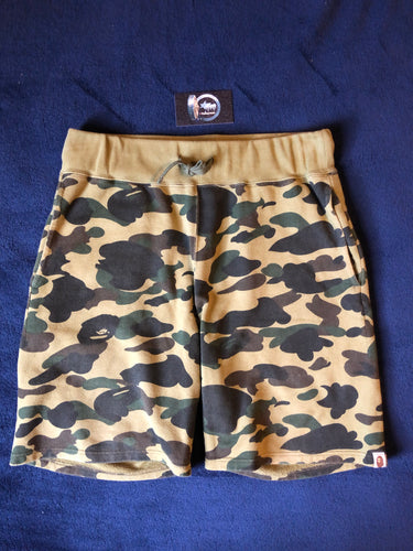 Bape Green Camo Sweat Shorts