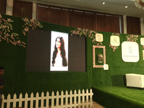 Ginni Bloom flowers at Sonam Kapoor's App launch event, Mumbai