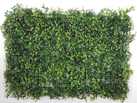 ARTIFICIAL OVAL DARK GREEN LEAF HEDGE/ WALL MAT (WHOLESALE PACK OF 12 MATS/ 30 SQ FEET)