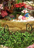 ARTIFICIAL MOSS COVERED WALL HANGING METAL BASKET - 10.5 INCH