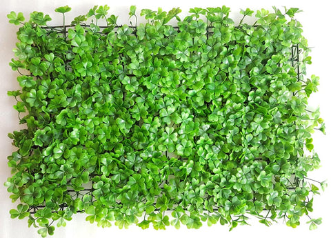 ARTIFICIAL GREEN LEAF HEDGE/ WALL MAT (WHOLESALE PACK OF 12 MATS/ 30 SQ FEET)