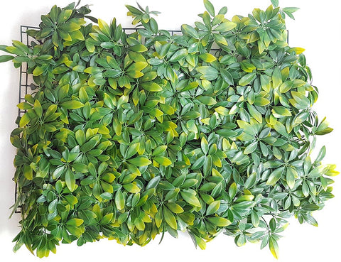 ARTIFICIAL GREEN SHADED LEAF HEDGE/ WALL MAT (WHOLESALE PACK OF 12 MATS/ 30 SQFT)