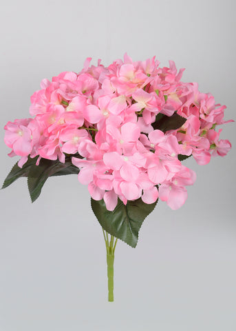ARTIFICIAL LARGE HYDRANGEA BUNCH X 7 - DARK PINK (WHOLESALE PACK OF 6 BUNCHES)