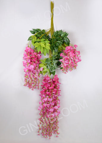 ARTIFICIAL WISTERIA - DARK PINK (WHOLESALE PACK OF 50 DOZEN @ RS. 395.00 / DOZEN)
