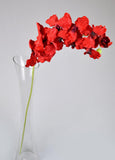 Artificial Vanda Orchids - Red-1 stem