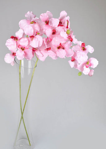 Artificial Vanda Orchids - Baby Pink-2stems
